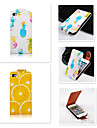 Pour Coque iPhone 5 Clapet Coque Coque Integrale Coque Fruit Dur Cuir PU iPhone SE/5s/5