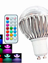 400 lm GU10 LED Globe Bulbs A60(A19) 3 leds High Power LED Dimmable Decorative Remote-Controlled RGB AC 100-240V