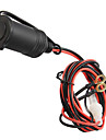 "12V Car Motorcycle Boat Waterproof  Socket Power Plug with 180cm/70.85"" Fuse Connector Wire"