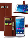 Pour Samsung Galaxy Coque Porte Carte / Avec Support / Clapet / Magnetique Coque Coque Integrale Coque Couleur Pleine Cuir PU Samsung