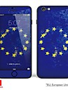 """iphone 6 / 6s corps autocollant d\'art: """"eu, union europeenne, Irlande, Pologne, Pays-Bas, holland"""" (serie drapeaux)"""