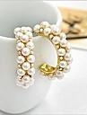 Women\'s Stud Earrings Hoop Earrings Luxury Costume Jewelry Pearl Imitation Pearl Cubic Zirconia Imitation Diamond Alloy Circle Jewelry For