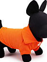 Dog Shirt / T-Shirt Dog Clothes Casual/Daily Solid Yellow Red Green Blue Pink Costume For Pets