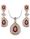 Women\'s Crystal Cubic Zirconia / Austria Crystal Cute Jewelry Set Earrings / Necklace - Luxury / Vintage / Party Jewelry Set For