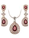 Women\'s Crystal Cubic Zirconia Austria Crystal Jewelry Set Earrings Necklace - Luxury Vintage Cute Party Work Casual Love Birthstones