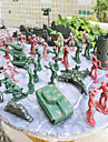 92pcs Soldier Action Figures Set Modeling Tanks, Artillery, Aircraft, Towers, Trees, Sandbags, Bunkers, Fences