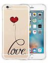 아이폰에 대한 영원한 부드러운 투명 실리콘 백 케이스를 사랑 6 / 6S (모듬 색상)