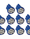 Lorcoo™ 10PCS LED Car Lights Bulb  T10 3528 4-SMD 194 168(White,Blue)