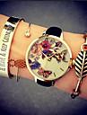 Жен. Модные часы Часы-браслет Кварцевый Защита от влаги PU Группа Бабочка Черный Белый Зеленый Розовый