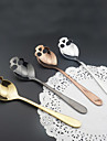Stainless Skull shape Dessert Spoon Coffee Spoons  Ice Cream Candy Tea Spoon