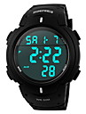 SKMEI 남성 스포츠 시계 디지털 시계 LCD 달력 크로노그래프 방수 경보 디지털 고무 밴드