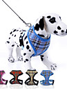 Dog Harness / Leash Adjustable / Retractable Plaid / Check Nylon Rose / Red / Blue