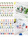 1 Transferencia de agua adesivo Joias de unha Etiquetas de unhas 3D Fashion Adoravel Diario Alta qualidade