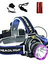 LS1792 Headlamps Headlight LED 2000 lm 3 Mode Cree XM-L T6 with Batteries and Chargers Zoomable Adjustable Focus Impact Resistant