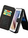 Pour Samsung Galaxy S7 Edge Porte Carte Portefeuille Avec Support Clapet Coque Coque Intégrale Coque Couleur Pleine Vrai Cuir pour Samsung
