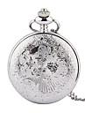 Men\'s Quartz Pocket Watch Hollow Engraving Alloy Band Charm Silver