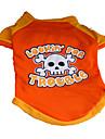 Perros Camiseta Naranja Ropa para Perro Verano Craneos