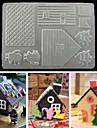 3D Chocolate House Mold PP Food Grade Cake Biscuit Cookies Mould for Xmas Festival Kitchen Tools