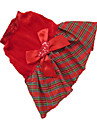 Dog Dress Dog Clothes Plaid/Check Red Grid Costume For Pets