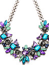 Women\'s Vintage Party Work Casual Fashion Statement Necklace Crystal Rhinestone Alloy Statement Necklace , Wedding Party Daily Casual