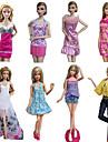 프린세스 코스츔 에 대한 바비 인형 드레스 치마 탑스 팬츠 에 대한 여자의 인형 장난감