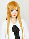 Perucas de Cosplay Sword Art Online Asuna Yuuki Laranja Longas Reto Anime Perucas de Cosplay 80 CM Fibra Resistente ao Calor Feminino