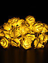 5m 20-LED Outdoor Holiday Decoration Rose Shape Warm White Light LED String Light (220V)