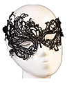 Carnival Mask Men's Women's Halloween Festival / Holiday Halloween Costumes Black Solid Colored Lace