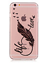 Case For Apple iPhone 6 iPhone 6 Plus Transparent Pattern Back Cover Feathers Soft TPU for iPhone 6s Plus iPhone 6s iPhone 6 Plus iPhone 6