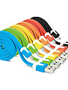 1m usb colore 2.0 male a micro usb 2.0 cable plat male pour samsung Huawei htc telephones android