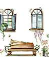 Paysage Animaux Nature morte Miroir Mode Floral Loisir Botanique Stickers muraux Autocollants avion Autocollants de frigo, Vinyle