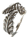 Antique Silver Vintage Style Leaf Open Band Midi Ring for Men/Women Jewelry