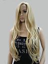 Synthetische pruiken Golvend Blond Met pony Blond Synthetisch haar Dames Haar met highlights / balayage / Zijdeel Blond Pruik Lang Zonder kap Hivision