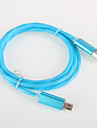 Aluminum Flash light USB 2.0  Charger cable Cord for Samsung Android Amartphone Aeneral Aable (0.25 M)
