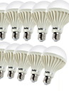 YouOKLight 10pcs 3W 150-200lm E26 / E27 LED Globe Bulbs C35 12 LED Beads SMD 5630 Decorative Warm White 220-240V