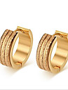 Women\'s Hoop Earrings Fashion Stainless Steel 18K gold Circle Tube Jewelry For Party Daily Casual