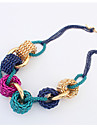 Necklace Chain Necklaces Jewelry Wedding / Party / Daily Fashionable Alloy Yellow / Blue 1pc Gift