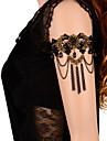Цепь Тела / Belly Chain / Браслет на плечо - Кружево Цветы Дамы, Готика Жен. Черный Украшения для тела Назначение Повседневные