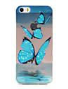 Para Capinha iPhone 5 Ultra-Fina / Transparente / Estampada Capinha Capa Traseira Capinha Borboleta Macia TPU Apple iPhone SE/5s/5