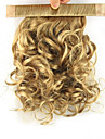 12 inch Golden Clip In Curly Ponytails Elastic Wrap Around Synthetic Hair Piece Hair Extension
