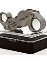 זכוכית מגדלת / מיקרוסקופ תכשיטים / תיקון שעון Generic / חדות גבוהה HD / נשיאה ידנית / קיפול 10X  20X 18mm נורמלי מתכת