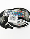Zdm 10m (2 * 5m) 72w 300x5050 rgb leds strip flexible light et 44key (1bin2) ir kit de controle a distance dc12v