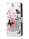 Назначение Кейс для Huawei P9 P9 Lite P8 P8 Lite Чехлы панели Кошелек Бумажник для карт Чехол Кейс для Бабочка Твердый Искусственная кожа