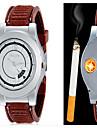 Мужской Модные часы Уникальный творческий часы Наручные часы легче Кварцевый сплав Группа Повседневная Креатив Черный Коричневый