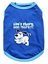 Gato Cachorro Camiseta Roupas para Caes Animal Azul Algodao Ocasioes Especiais Para animais de estimacao Homens Mulheres Fashion