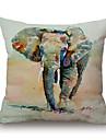 1Pcs Printing Elephant Pattern Cotton Pillow Cover