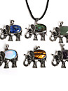 Women\'s Pendant Elephant Animal Zinc Alloy Stone Fashion Jewelry For Daily
