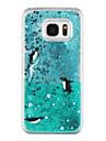 Para Samsung Galaxy S7 Edge Liquido Flutuante / Transparente / Estampada Capinha Capa Traseira Capinha Animal Rigida PC SamsungS7 edge /