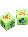 Dice Spoof Fun Dice Toys Spoof Fun Plastic Romance 2 Pieces Christmas Valentine\'s Day Gift