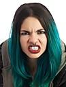 Парики из искусственных волос Прямой Зеленый Зеленый Искусственные волосы Жен. Волосы с окрашиванием омбре Зеленый Парик Короткие / Средние